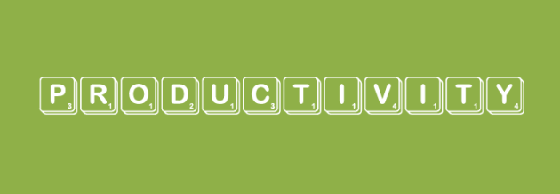 "The word ""productivity"" spelled out in scrabble tiles"
