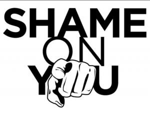 Image result for shame very shame