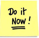 Do-it-now post-it white