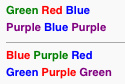 An example of the Stroop effect is the finding that naming the color of the first set of words is easier and quicker than the second. [https://addandsomuchmore.com/2014/03/22/executive-functioning-focus-and-attentional-bias/]